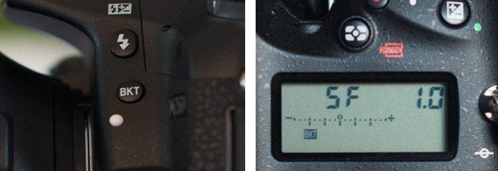 Réglage du bracketing en Comment faire une photo HDR