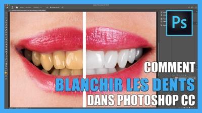 Tutoriel vidéo pour apprendre Comment blanchir les dents sur photoshop CC / retouche photo gratuit