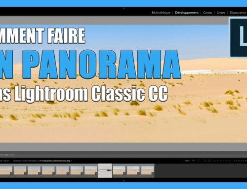 Comment faire un panorama dans lightroom Classic CC