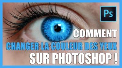 Comment changer la couleur des yeux sur photoshop CC / Photo montage