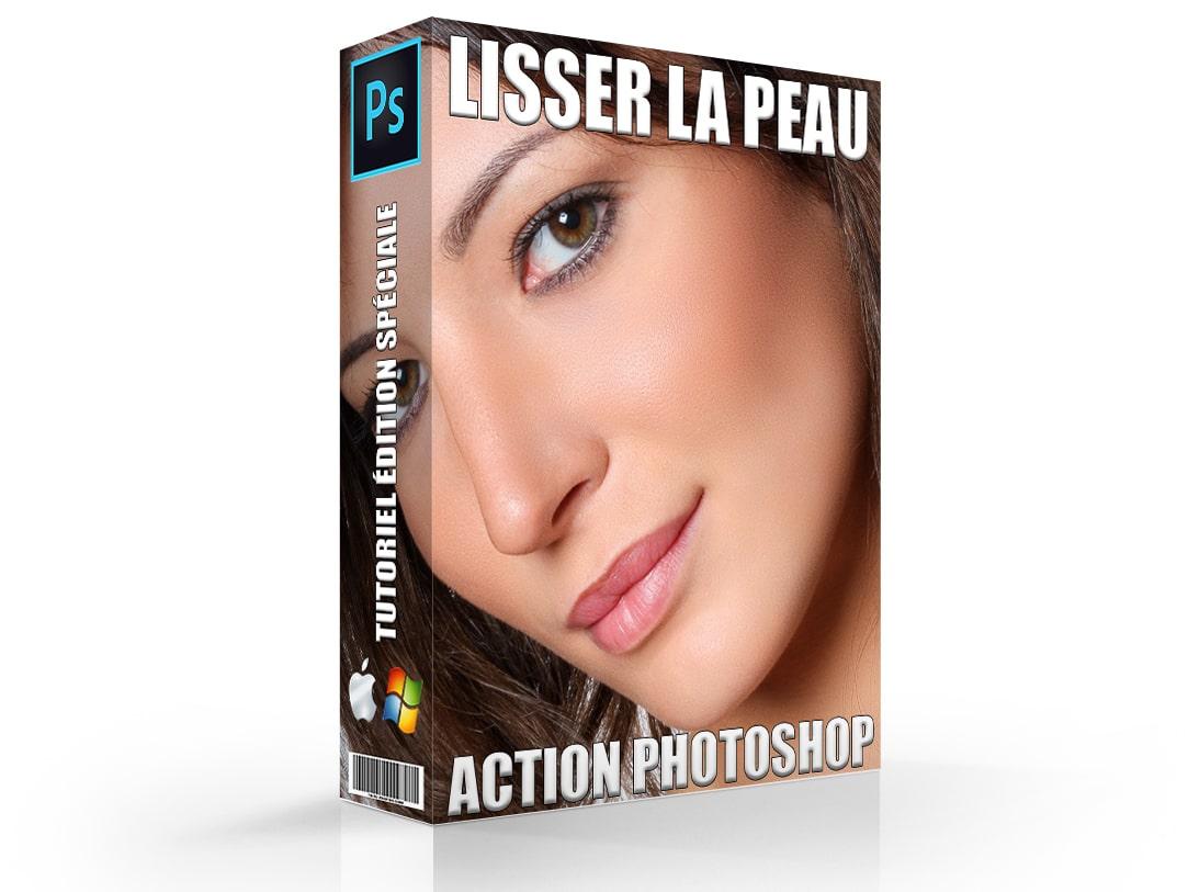 Action photoshop pour lisser la peau