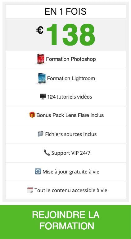 tutoriel Photoshop et Lightroom gratuit en 1 fois