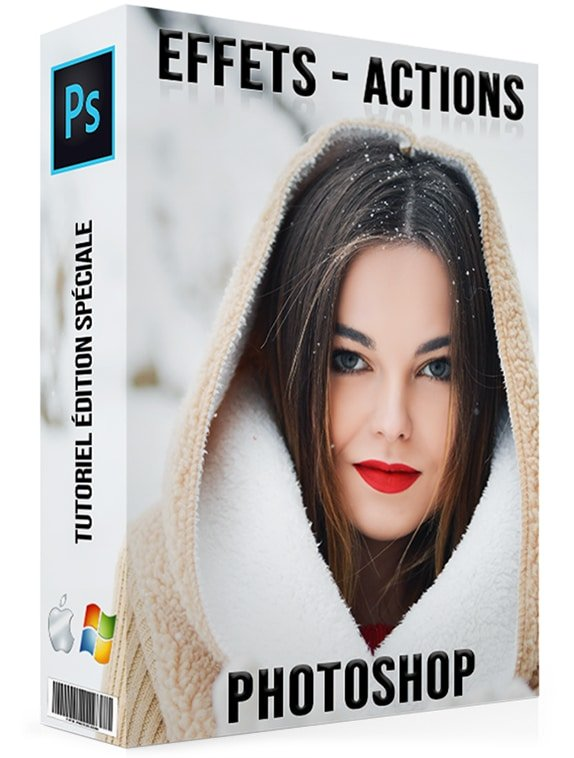 Retouche photo visage - Actions Photoshop effets Photos