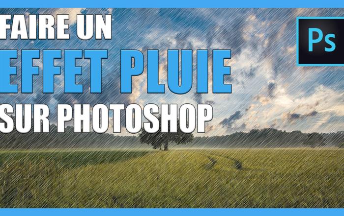 Comment créer un effet de pluie sur une photo avec Photoshop ?